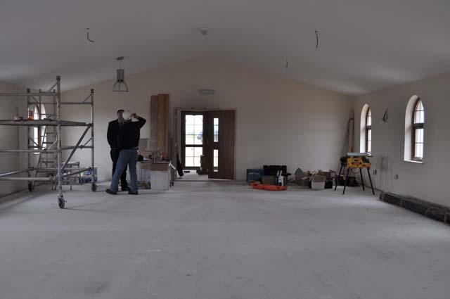 Latest - Calum and Foreman Examine Main Hall - 17.08.2011