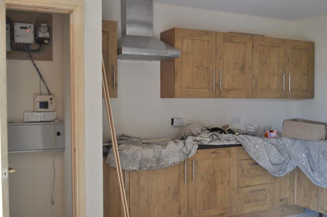 Latest - Kitchen  and Cupboard to left - 17.08.2011